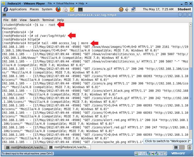 how to see apache error log