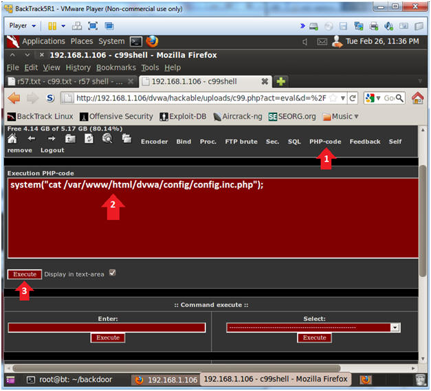 Hướng Dẫn Thực hành - Upload and use C99 php Backdoor shell (DVWA