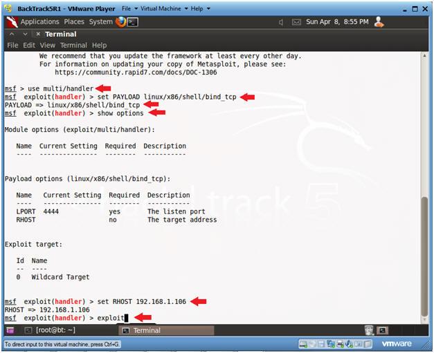 Damn Vulnerable Web App (DVWA): Lesson 4: Using Metasploit