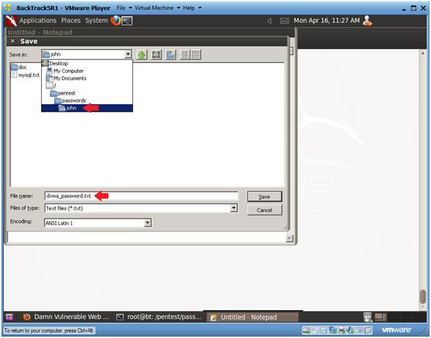Damn Vulnerable Web App (DVWA): Lesson 6: Manual SQL