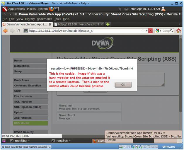 Damn Vulnerable Web App (DVWA): Lesson 9: Cross Site Scripting (XSS)