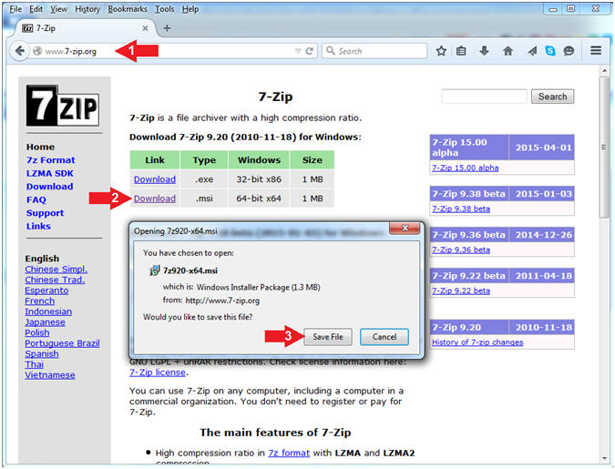 Pre-Requisites: Lesson 2: Download and Install 7-zip