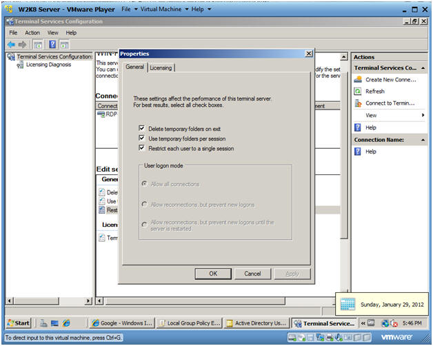 how to create rdp user in server 2008