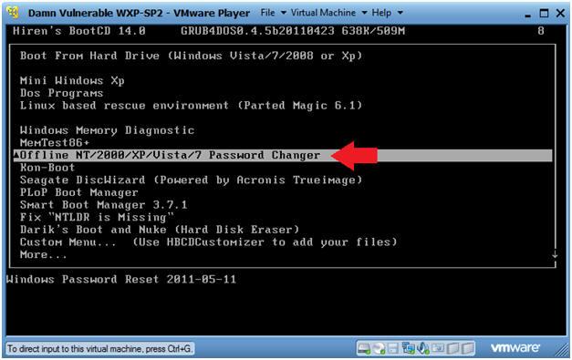 spower windows password reset no windows found