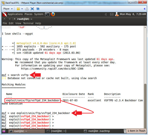 Metasploitable Project: Lesson 8: Exploiting VSFTPD 2 3 4