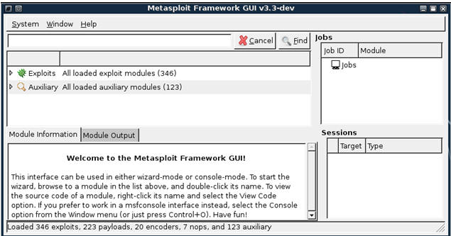 Metasploit: MS08-067: Using the MsfGUI to Grab A Shell and