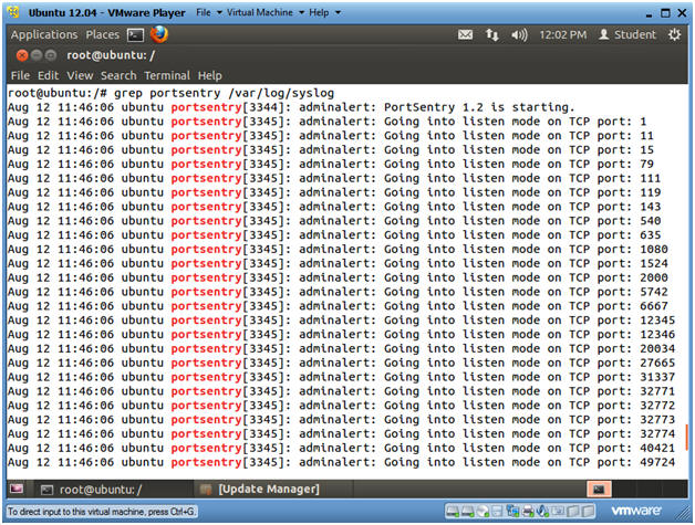 Ubuntu: Lesson 14: Installing and Testing PortSentry against