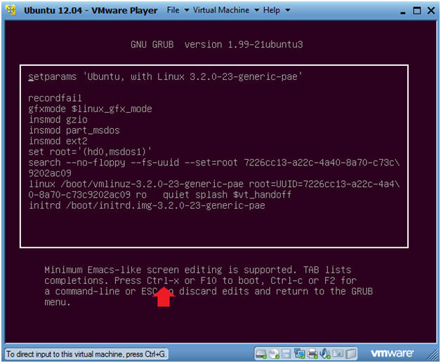 Ubuntu: Lesson 2: Use Ubuntu 12 04 Grub to boot into single