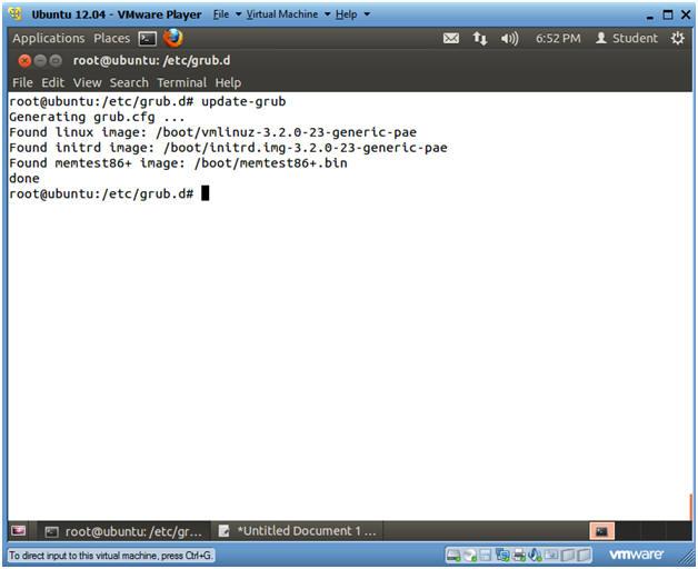 Ubuntu: Lesson 3: Hardening the Boot Loader, /boot/grub/grub cfg