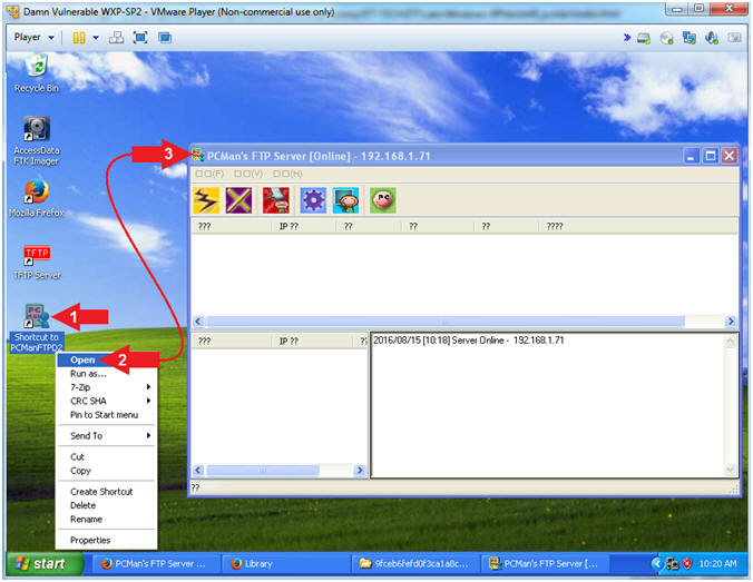 Damn Vulnerable Windows XP: Lesson 9: How to setup the