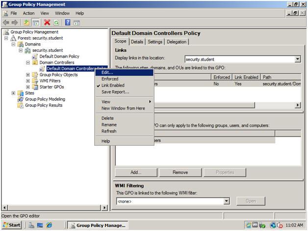 Windows 2008 Server: Lesson 8: Setting Up Audit Account