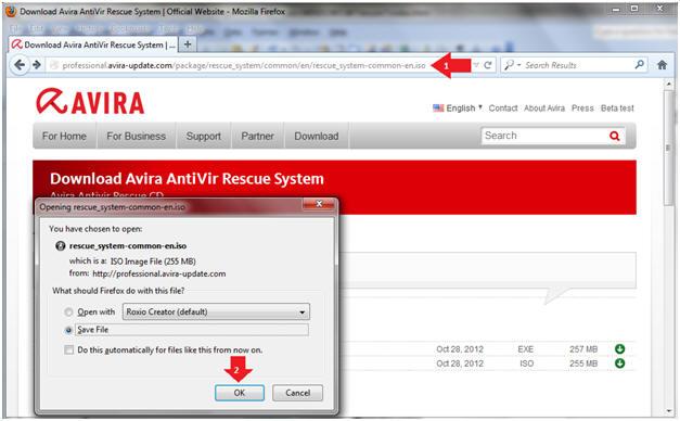 Windows 7 Lesson 7 Download And Run Avira Antivir Rescue System